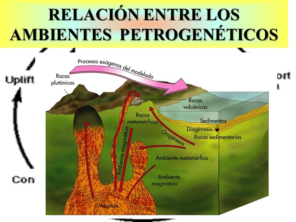 Ciclo rocas por Hutton RELACIÓN ENTRE LOS AMBIENTES PETROGENÉTICOS