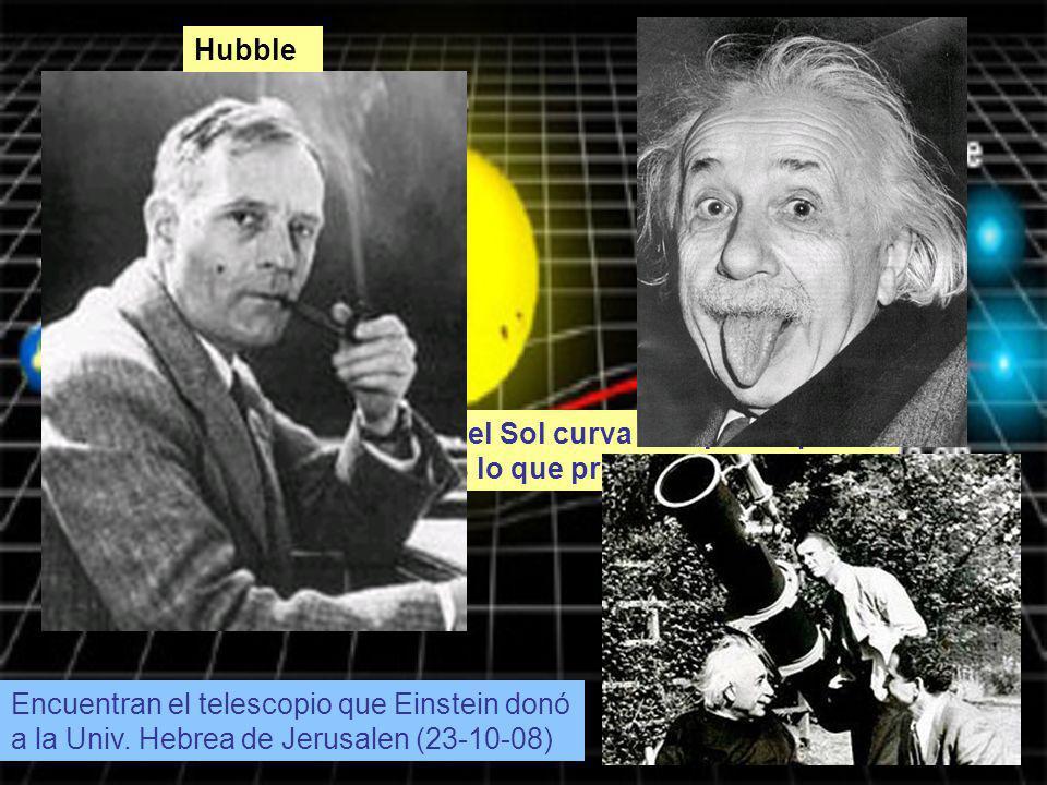 Encuentran el telescopio que Einstein donó a la Univ. Hebrea de Jerusalen (23-10-08) La masa del Sol curva el espacio que le rodea y es lo que produce