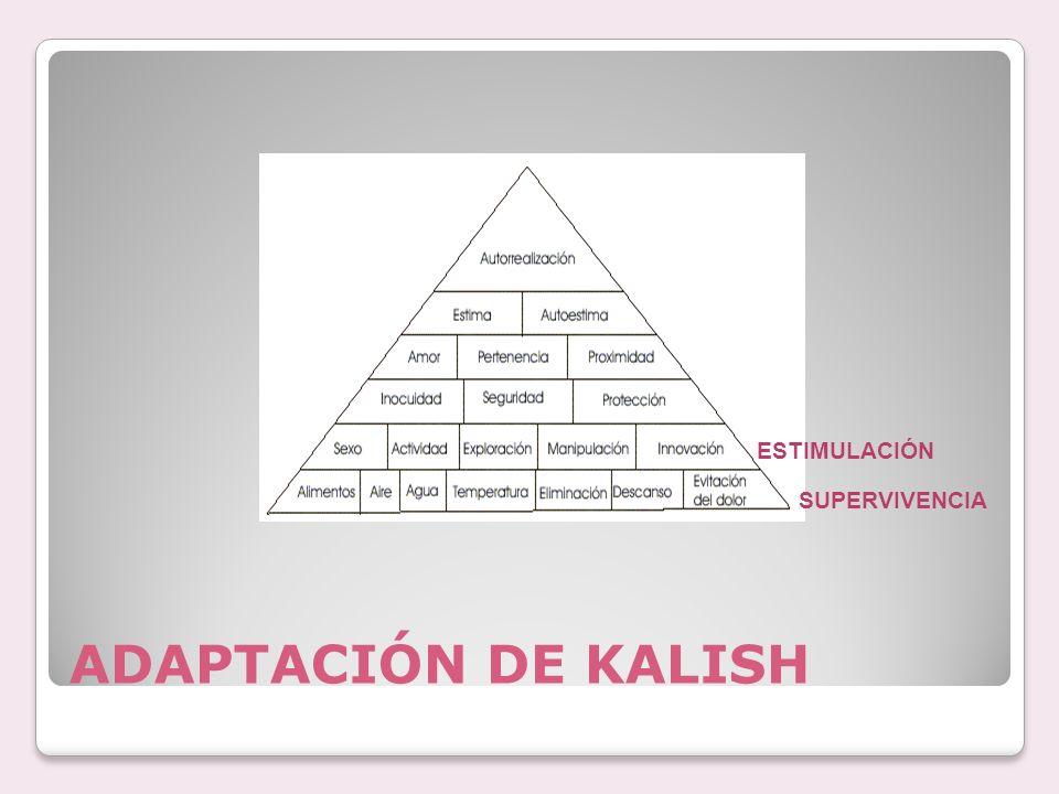 ADAPTACIÓN DE KALISH SUPERVIVENCIA ESTIMULACIÓN