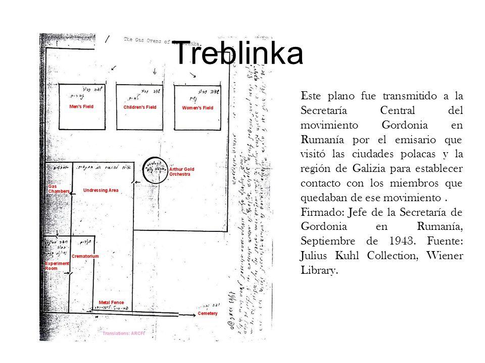 Este plano fue transmitido a la Secretaría Central del movimiento Gordonia en Rumanía por el emisario que visitó las ciudades polacas y la región de G
