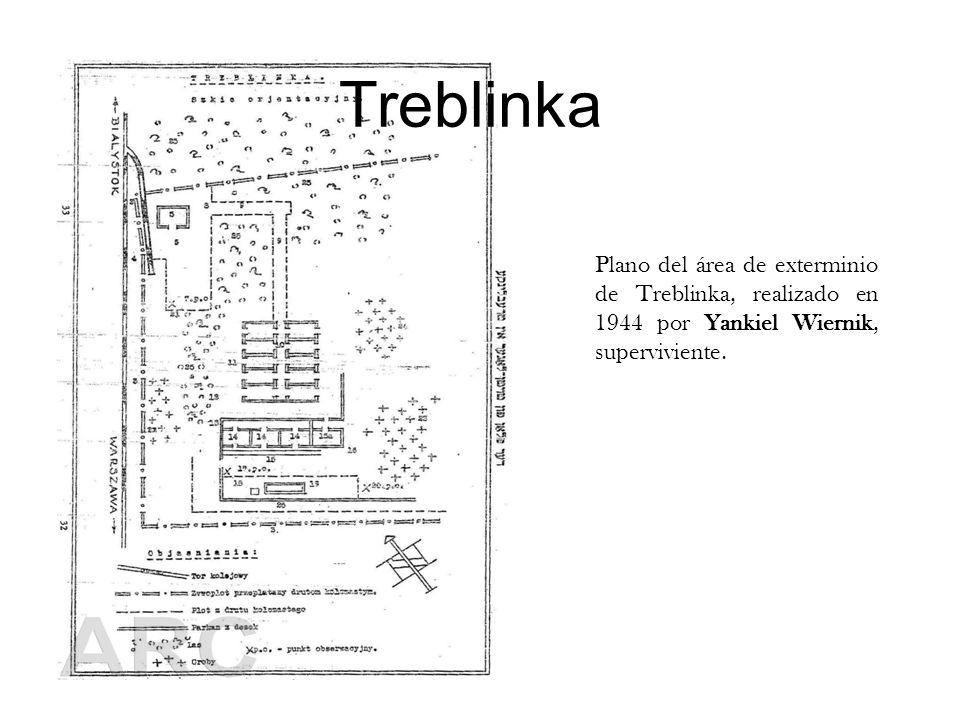 Treblinka Plano del área de exterminio de Treblinka, realizado en 1944 por Yankiel Wiernik, superviviente.