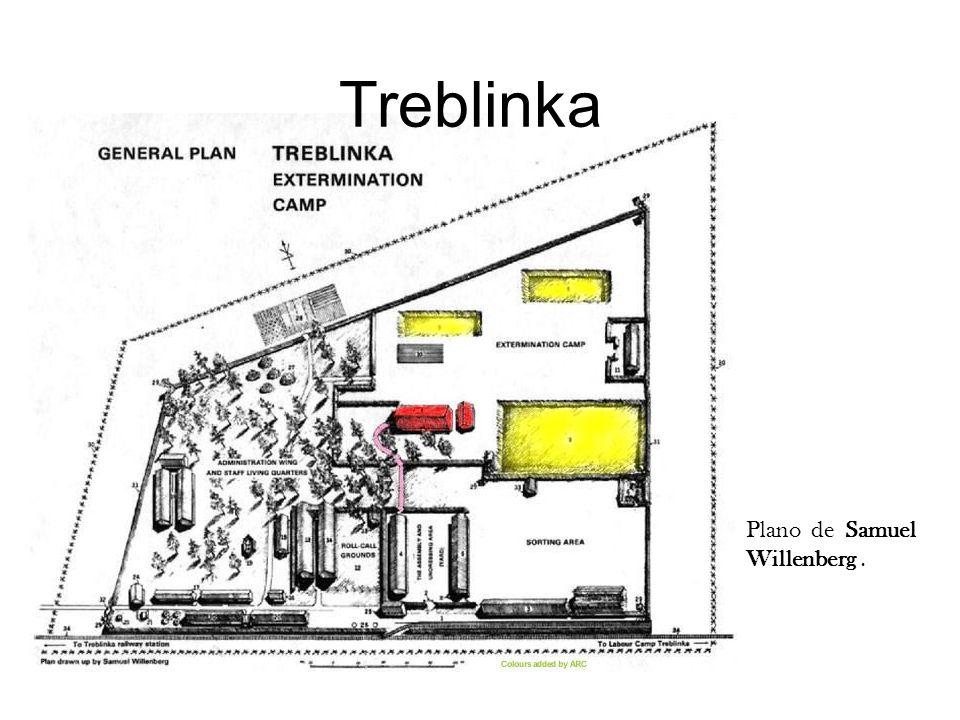 Treblinka Plano dibujado para Oneg Szabat, archivo clandestino del ghetto e Varsovia.