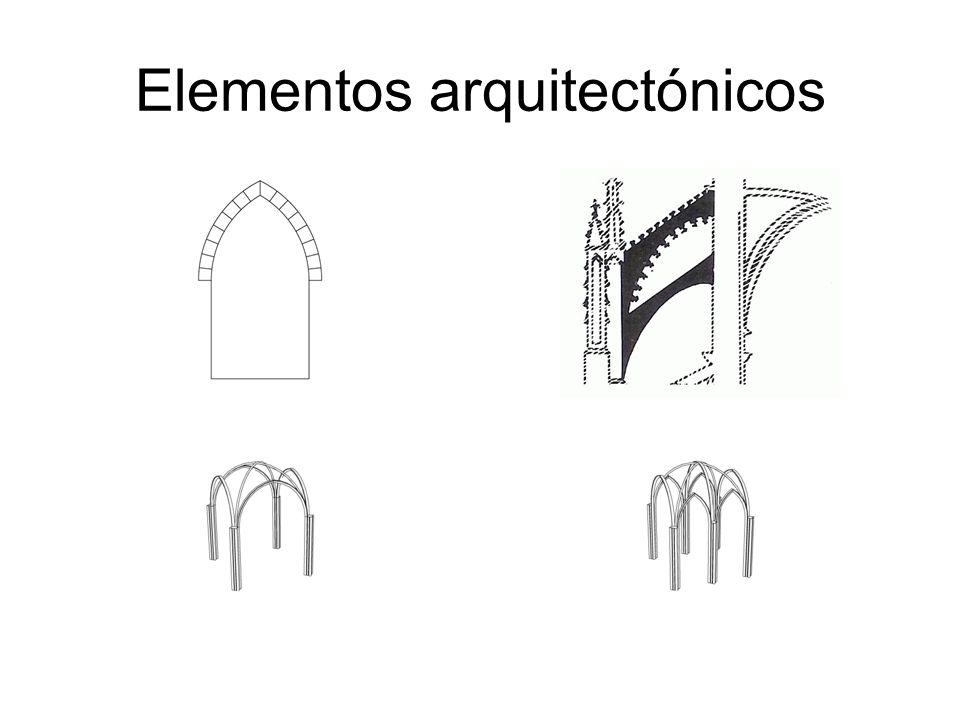 Elementos arquitectónicos: comparación entre románico y gótico