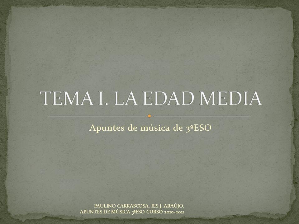 Apuntes de música de 3ºESO PAULINO CARRASCOSA. IES J. ARAÚJO. APUNTES DE MÚSICA 3ºESO CURSO 2010-2011