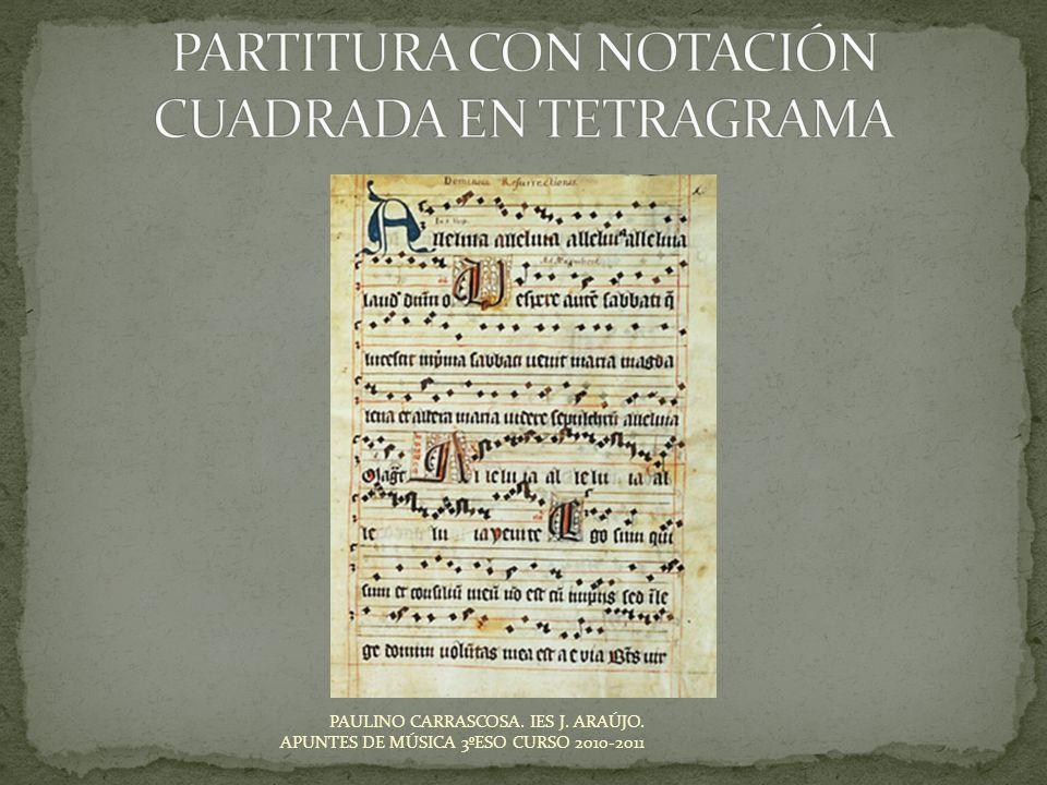 PAULINO CARRASCOSA. IES J. ARAÚJO. APUNTES DE MÚSICA 3ºESO CURSO 2010-2011