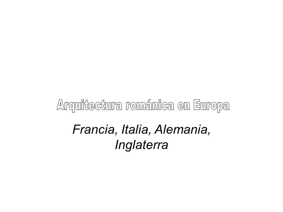 Zonas o áreas del románico italiano: