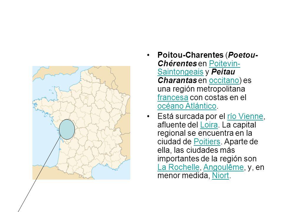 Poitou-Charentes (Poetou- Chérentes en Poitevin- Saintongeais y Peitau Charantas en occitano) es una región metropolitana francesa con costas en el oc