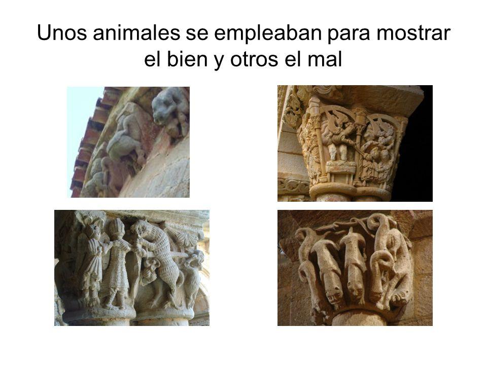 Unos animales se empleaban para mostrar el bien y otros el mal