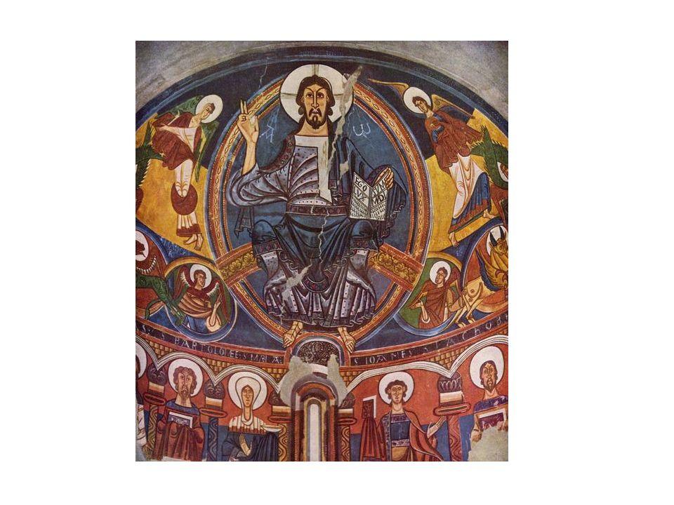 El arcángel, San Miguel pesa las almas, mientras un demonio tramposo intenta descompensar la balanza para que las malas obras supongan mayor peso e impliquen la condenación.
