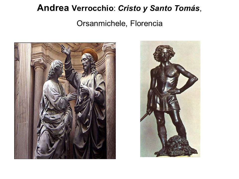 Andrea Verrocchio: Cristo y Santo Tomás, Orsanmichele, Florencia