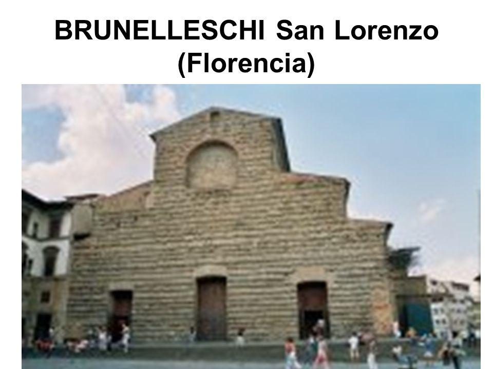 BRUNELLESCHI San Lorenzo (Florencia)