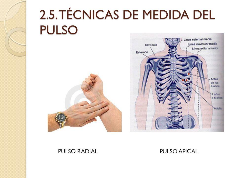 2.5. TÉCNICAS DE MEDIDA DEL PULSO PULSO RADIALPULSO APICAL