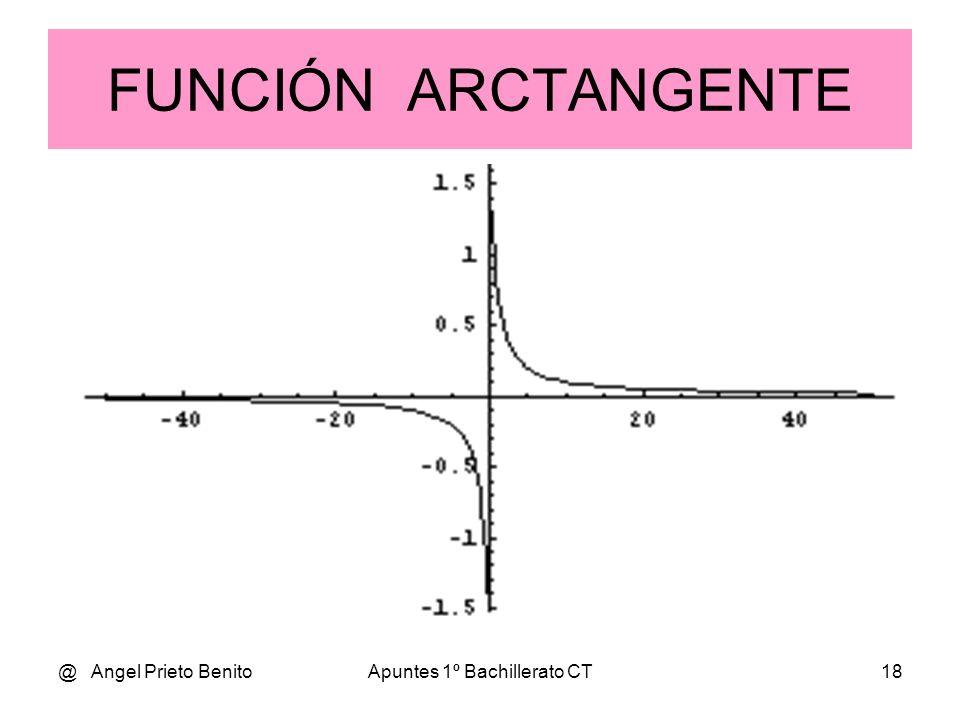 @ Angel Prieto BenitoApuntes 1º Bachillerato CT17 FUNCIÓN ARCOSENO