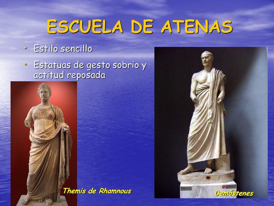 Muchas obras se conservan por copias romanas Muchas obras se conservan por copias romanas Surgen escuelas y hay una expansión hacia Asia Menor y el ár