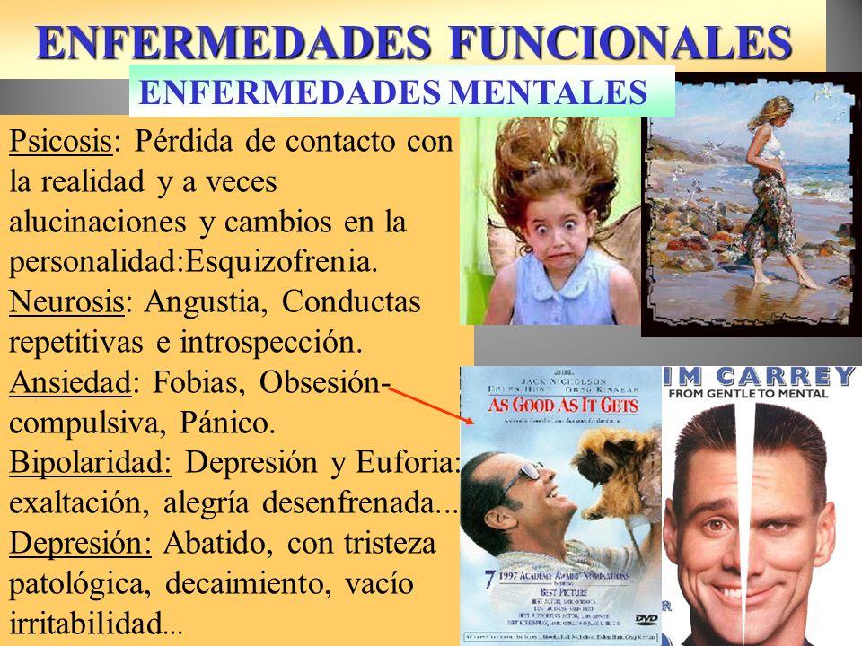 ENFERMEDADES FUNCIONALES Alberto Durero 1514 Psicosis: Pérdida de contacto con la realidad y a veces alucinaciones y cambios en la personalidad:Esquiz