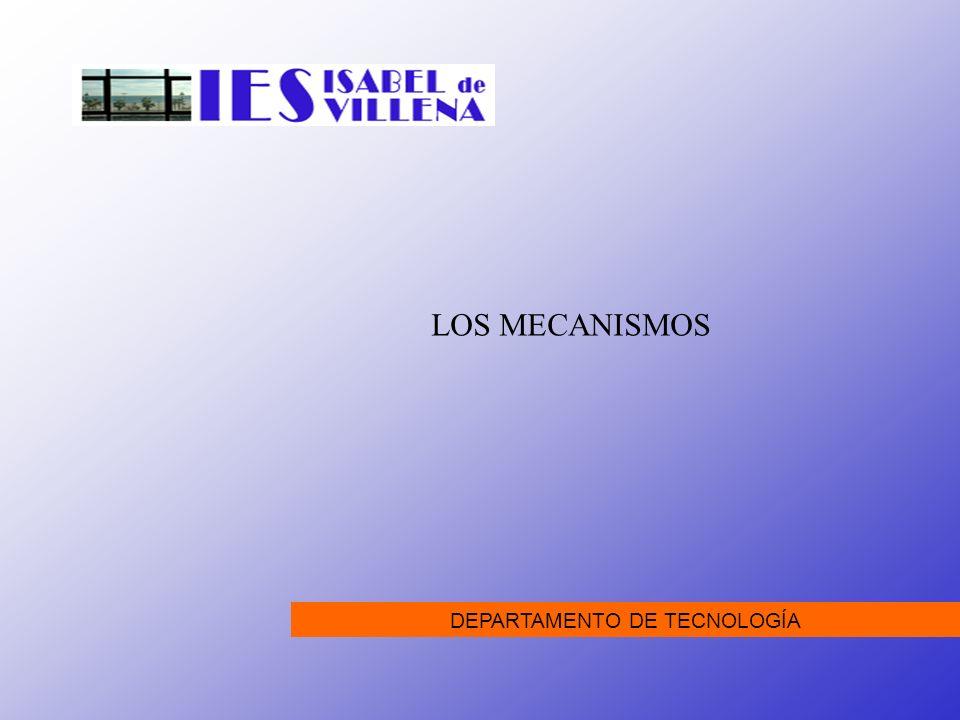 LOS MECANISMOS Todas las máquinas, sean básicas o complejas, se componen de mecanismos sencillos.
