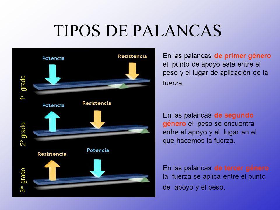 EJEMPLOS DE PALANCAS