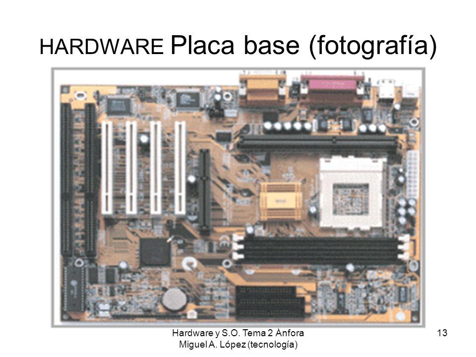 Hardware y S.O. Tema 2 Ánfora Miguel A. López (tecnología) 13 HARDWARE Placa base (fotografía)