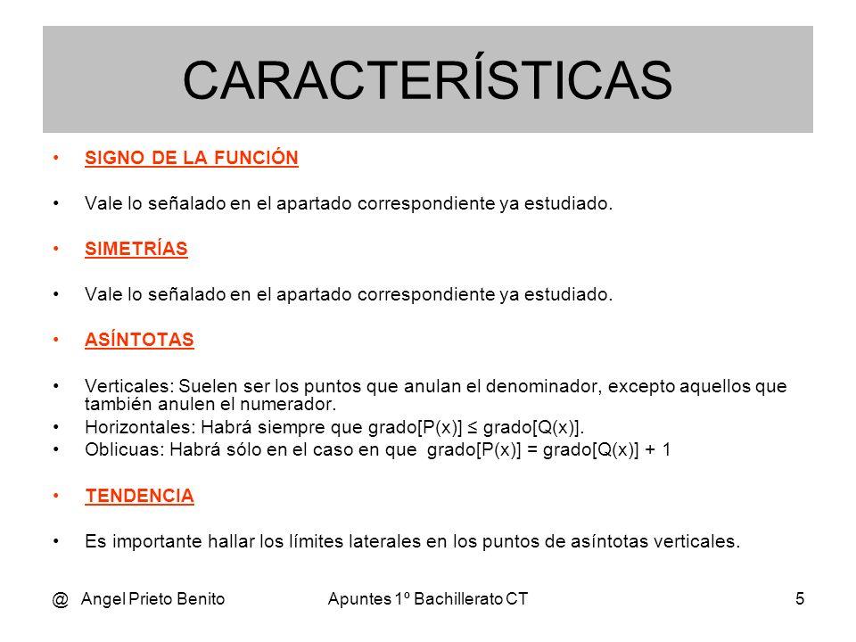 @ Angel Prieto BenitoApuntes 1º Bachillerato CT5 SIGNO DE LA FUNCIÓN Vale lo señalado en el apartado correspondiente ya estudiado. SIMETRÍAS Vale lo s