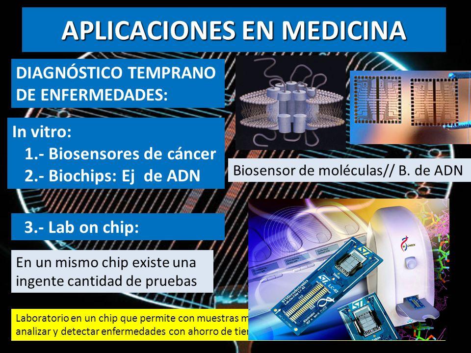 DIAGNÓSTICO TEMPRANO DE ENFERMEDADES: Laboratorio en un chip que permite con muestras microscópicas purificar, almacenar, mezclar, analizar y detectar