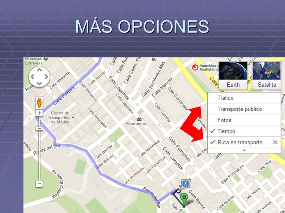 MÁS OPCIONES
