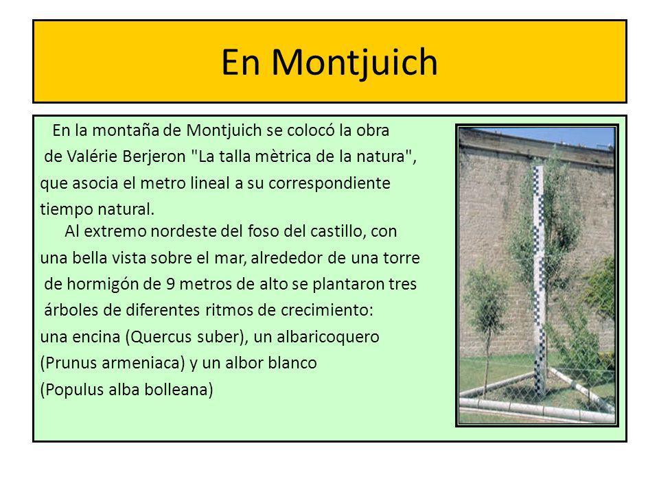En Montjuich En la montaña de Montjuich se colocó la obra de Valérie Berjeron