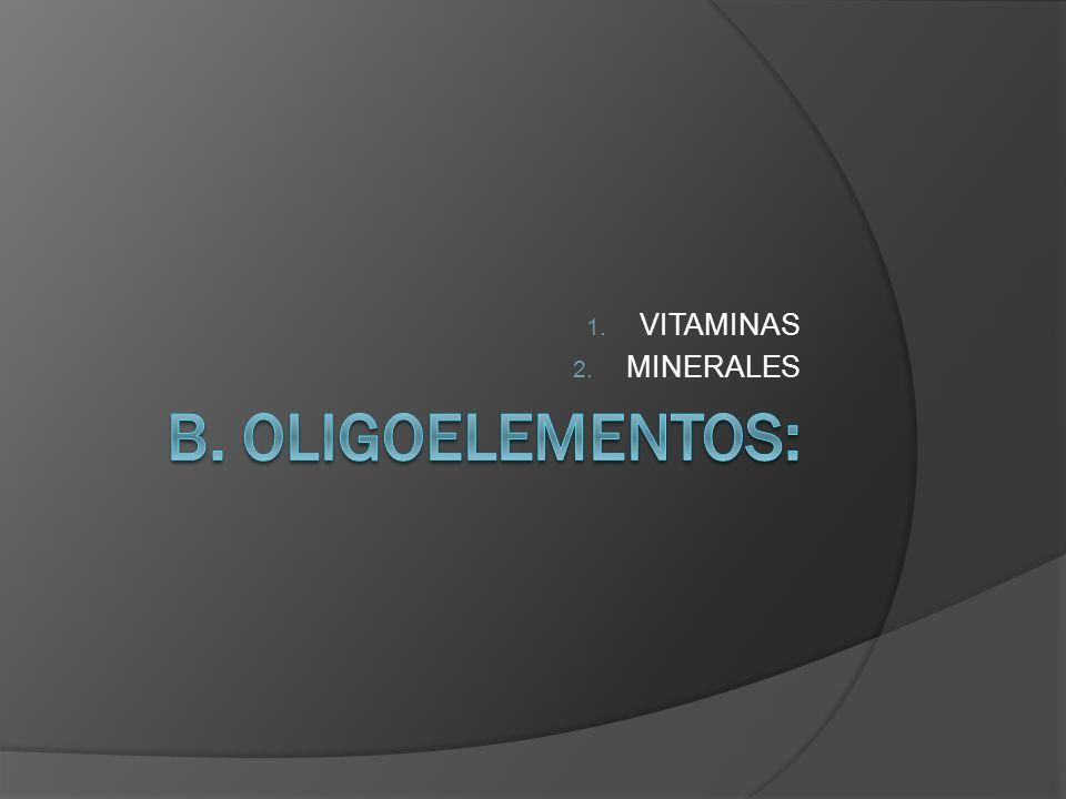 1. VITAMINAS 2. MINERALES