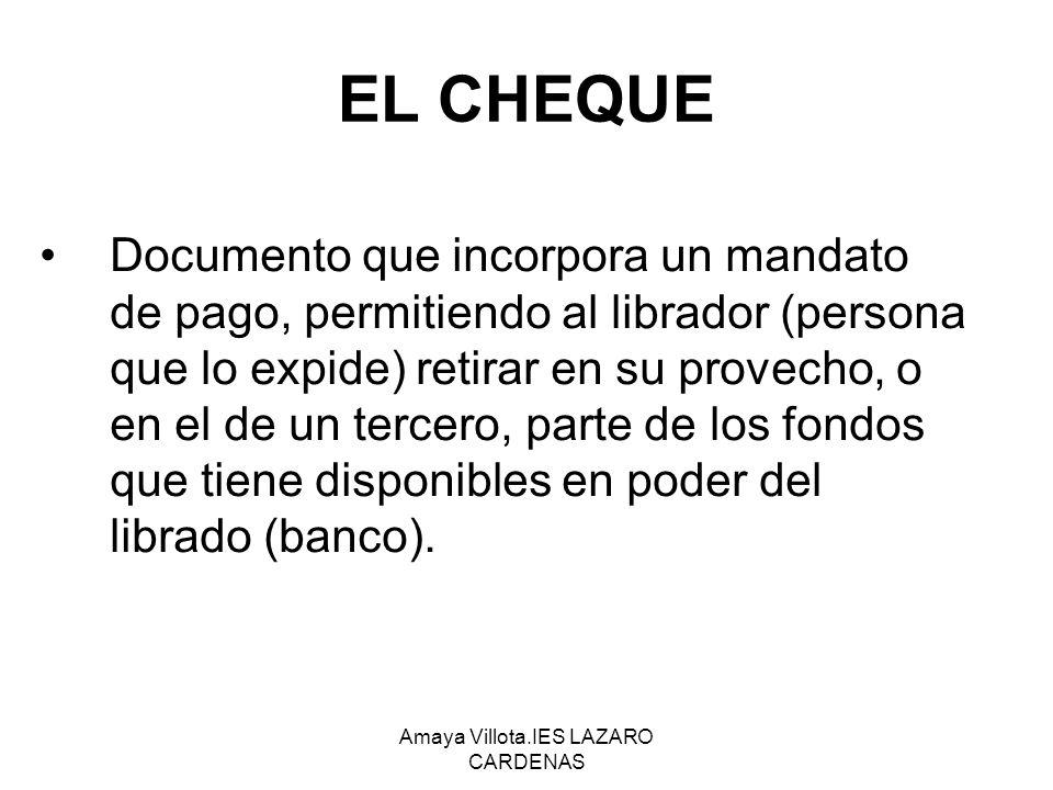 Amaya Villota.IES LAZARO CARDENAS EL PAGARÉ: El pagaré es un documento que contiene una promesa de pago.