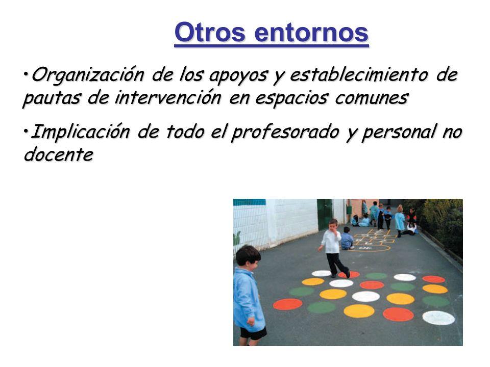 Otros entornos Organización de los apoyos y establecimiento de pautas de intervención en espacios comunesOrganización de los apoyos y establecimiento