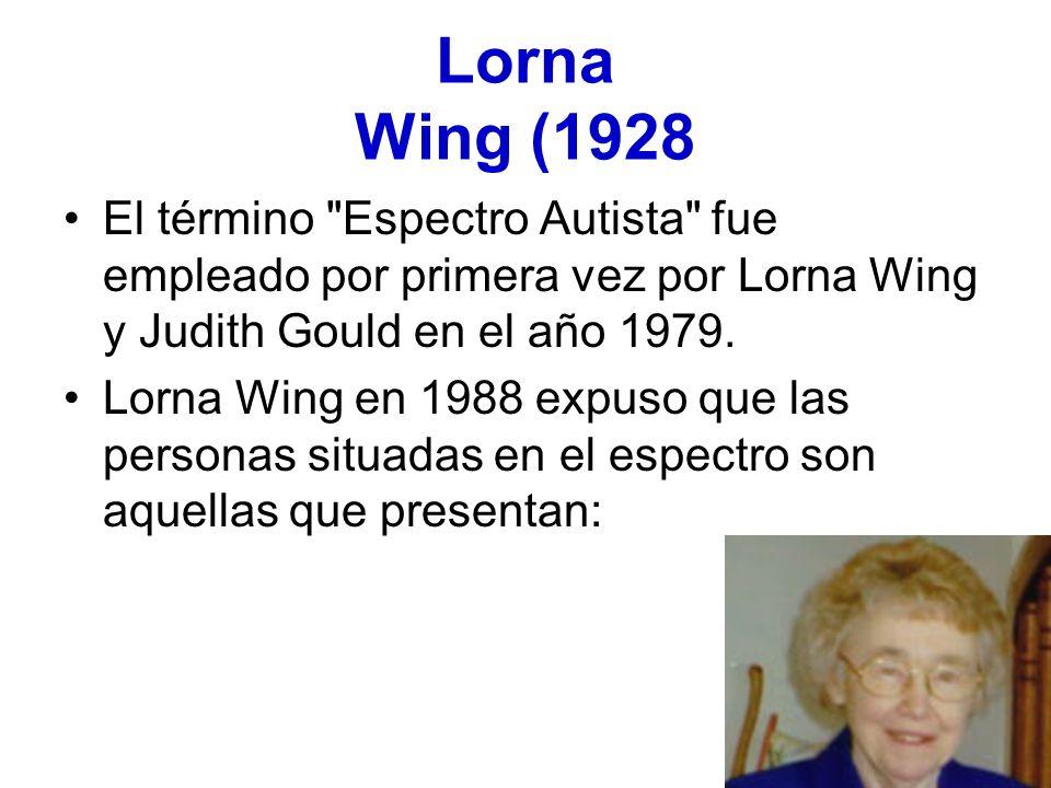Lorna Wing (1928 El término