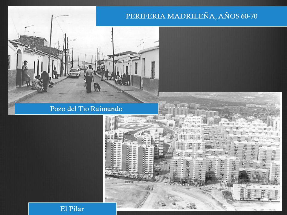 PERIFERIA MADRILEÑA, AÑOS 60-70 Pozo del Tío Raimundo El Pilar