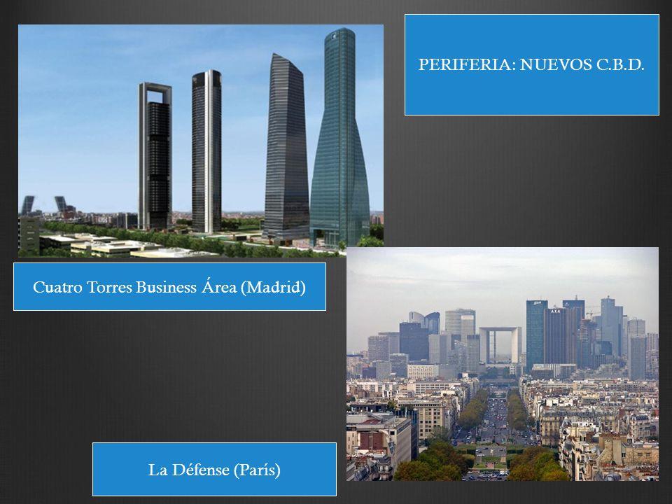 Cuatro Torres Business Área (Madrid) La Défense (París) PERIFERIA: NUEVOS C.B.D.