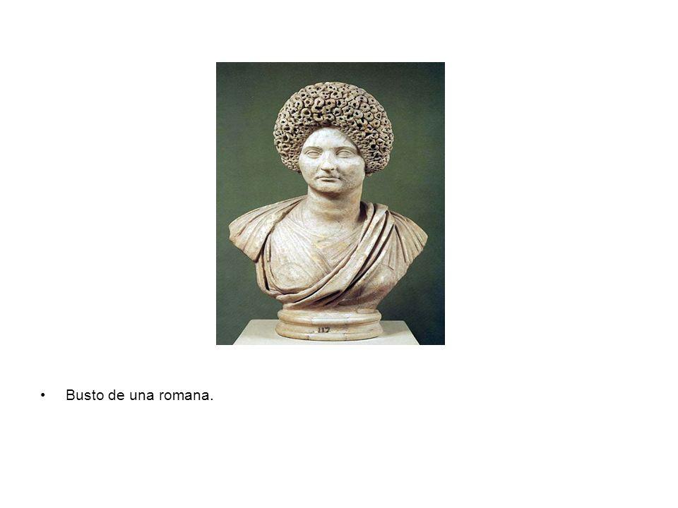 Busto de una romana.