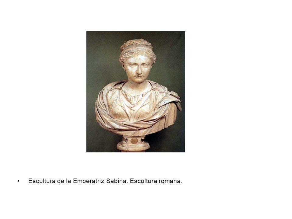 Escultura de la Emperatriz Sabina. Escultura romana.