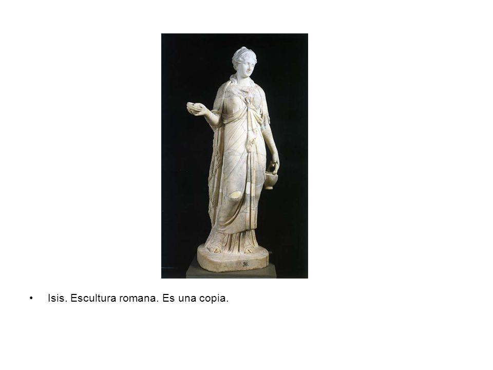 Isis. Escultura romana. Es una copia.