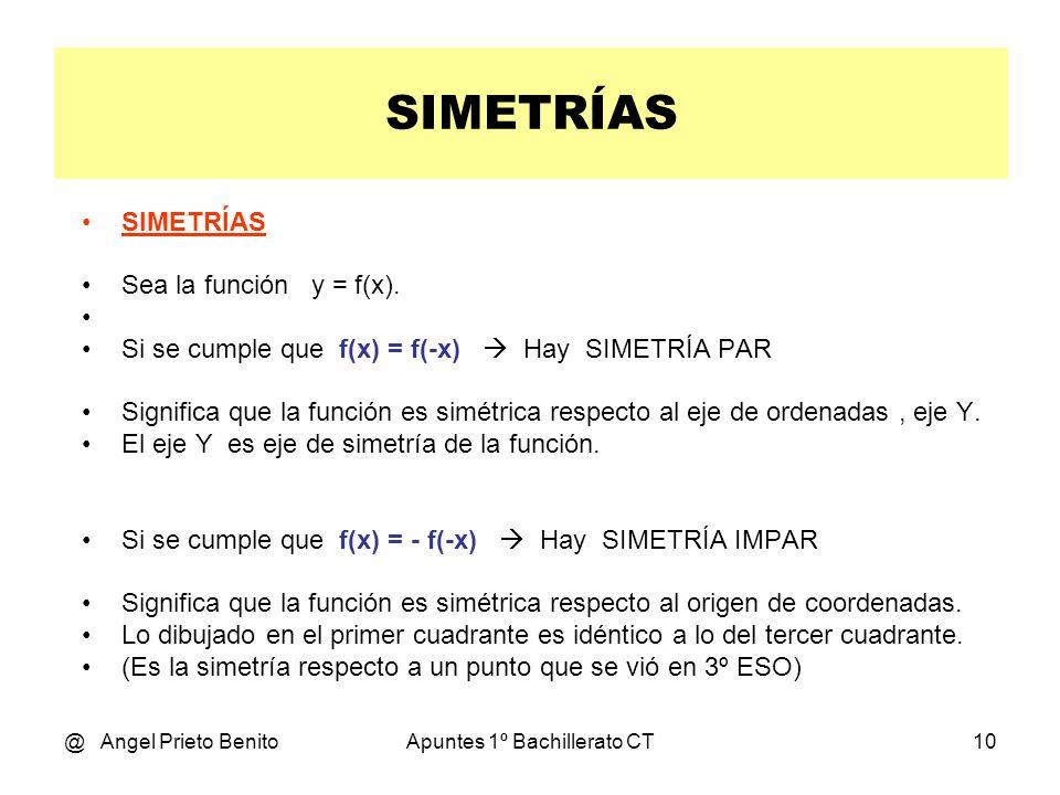 @ Angel Prieto BenitoApuntes 1º Bachillerato CT9 SIMETRÍA Tema 9.2 * 1º BCT