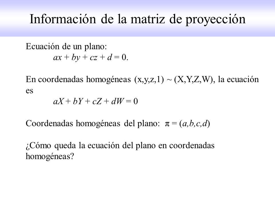 Geometría epipolar.Ejemplo 1.