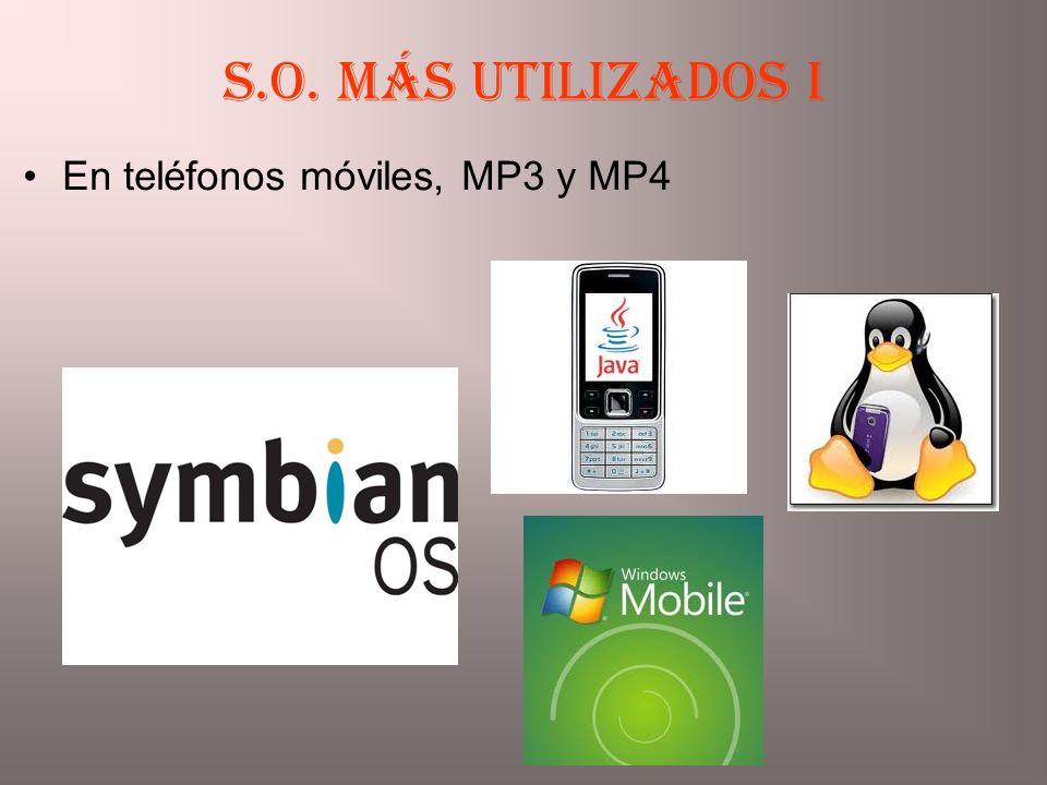 En teléfonos móviles, MP3 y MP4 S.O. más utilizados I