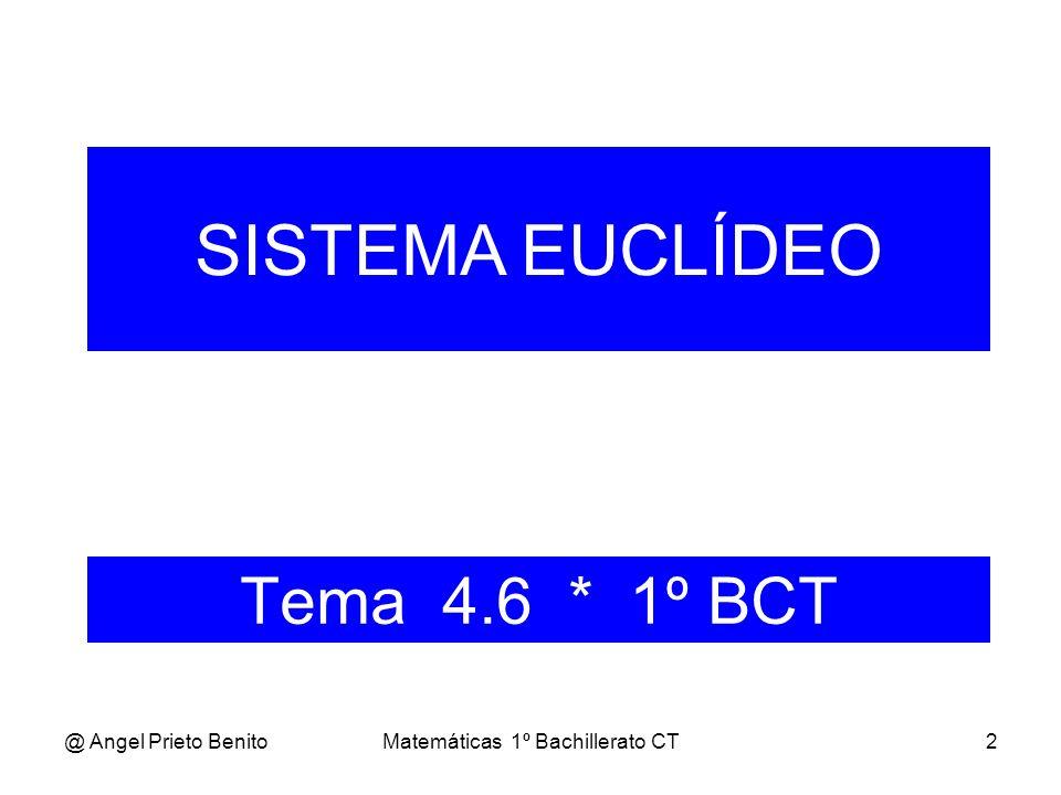 @ Angel Prieto BenitoMatemáticas 1º Bachillerato CT3 NOMENCLATURA Sea u un vector libre en V 2.