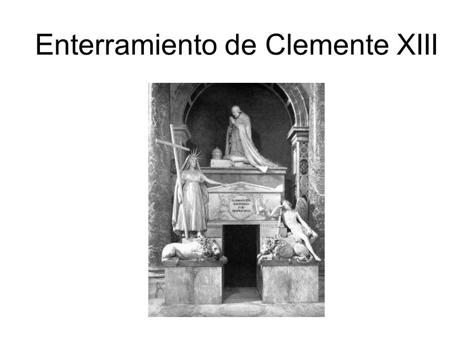 Enterramiento de Clemente XIII