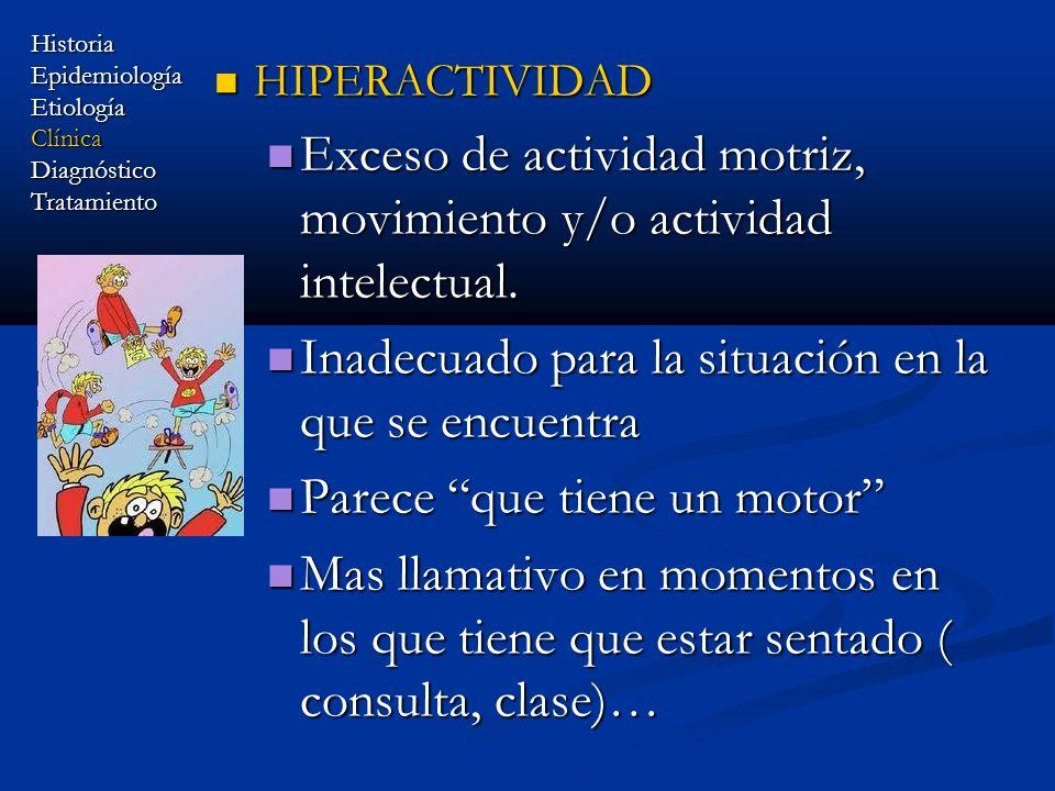 HIPERACTIVIDAD HIPERACTIVIDAD Exceso de actividad motriz, movimiento y/o actividad intelectual. Exceso de actividad motriz, movimiento y/o actividad i