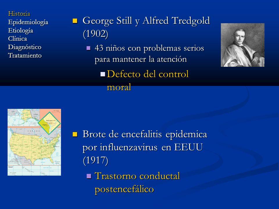 George Still y Alfred Tredgold (1902) George Still y Alfred Tredgold (1902) 43 niños con problemas serios para mantener la atención 43 niños con probl