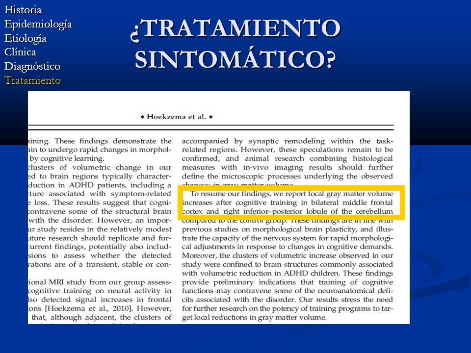 ¿TRATAMIENTO SINTOMÁTICO? HistoriaEpidemiologíaEtiologíaClínicaDiagnósticoTratamiento