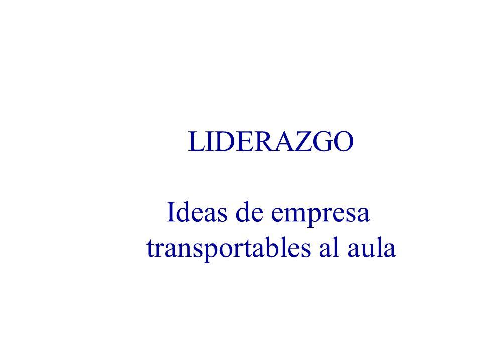 LIDERAZGO Ideas de empresa transportables al aula