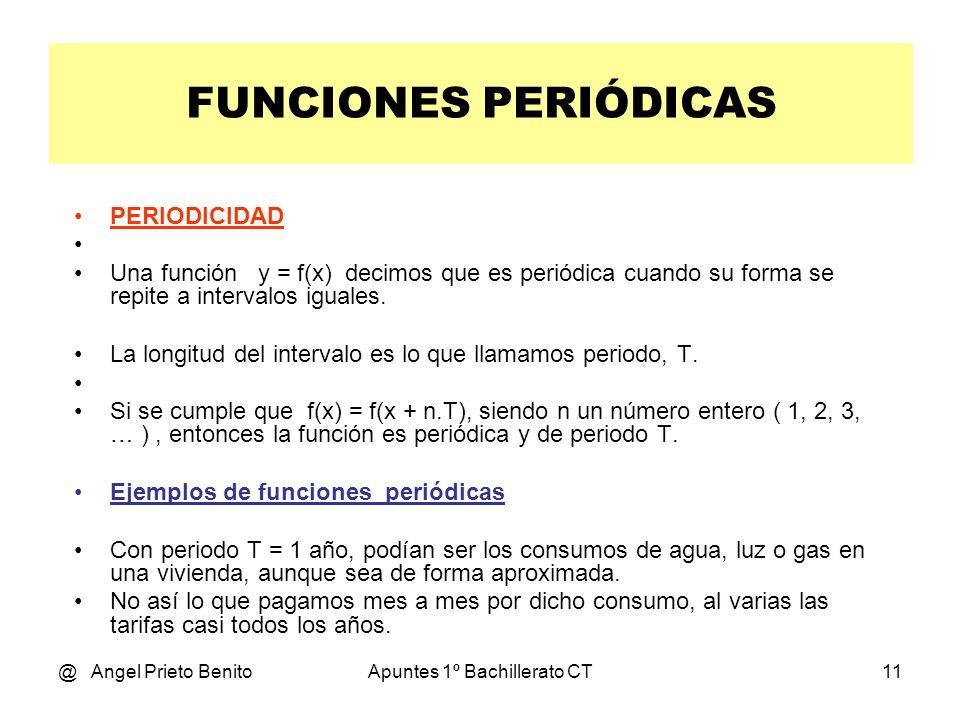 @ Angel Prieto BenitoApuntes 1º Bachillerato CT10 FUNCIONES PERIÓDICAS Tema 9.6 * 1º BCT
