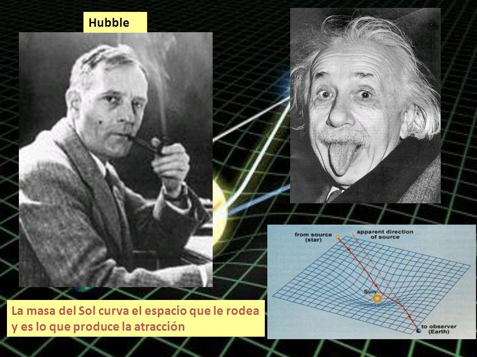 La masa del Sol curva el espacio que le rodea y es lo que produce la atracción Hubble