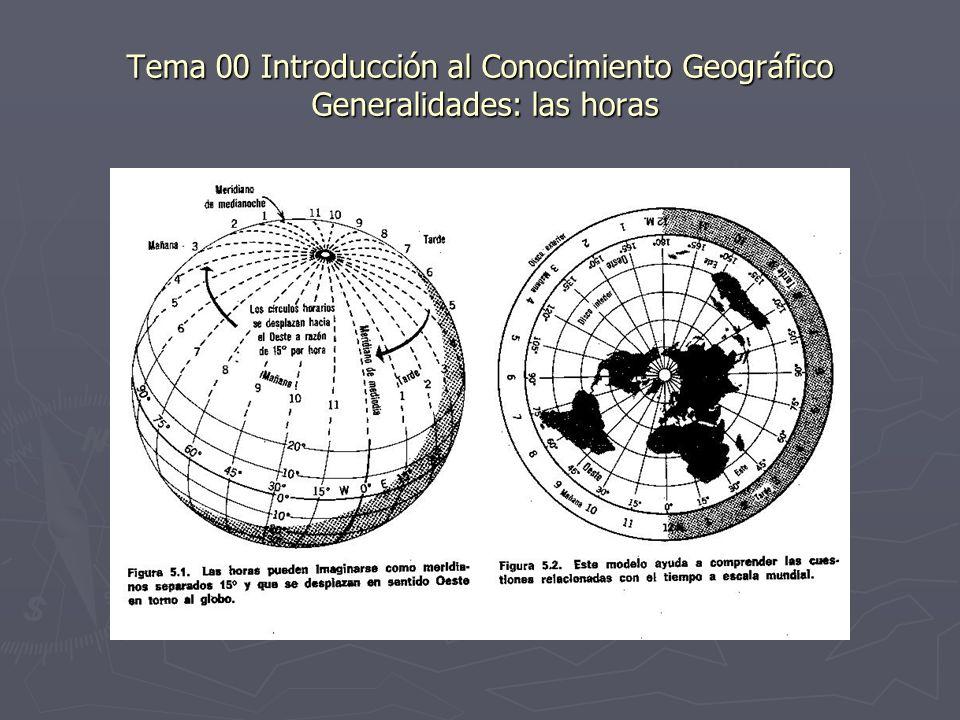Tema 00 Introducción al Conocimiento Geográfico Generalidades: las horas