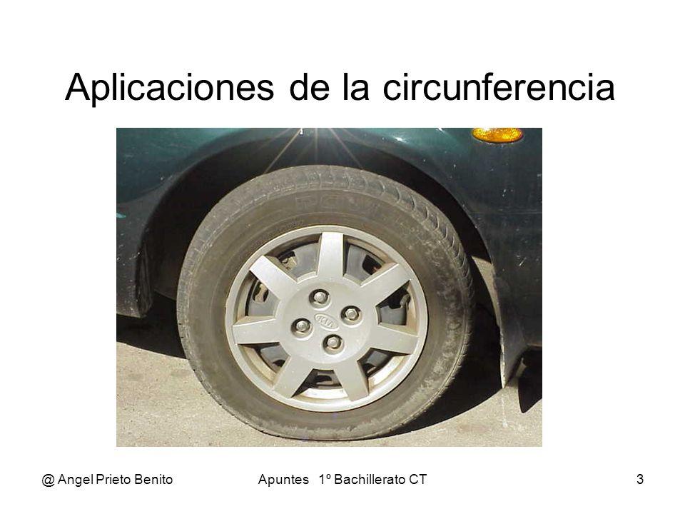 @ Angel Prieto BenitoApuntes 1º Bachillerato CT3 Aplicaciones de la circunferencia