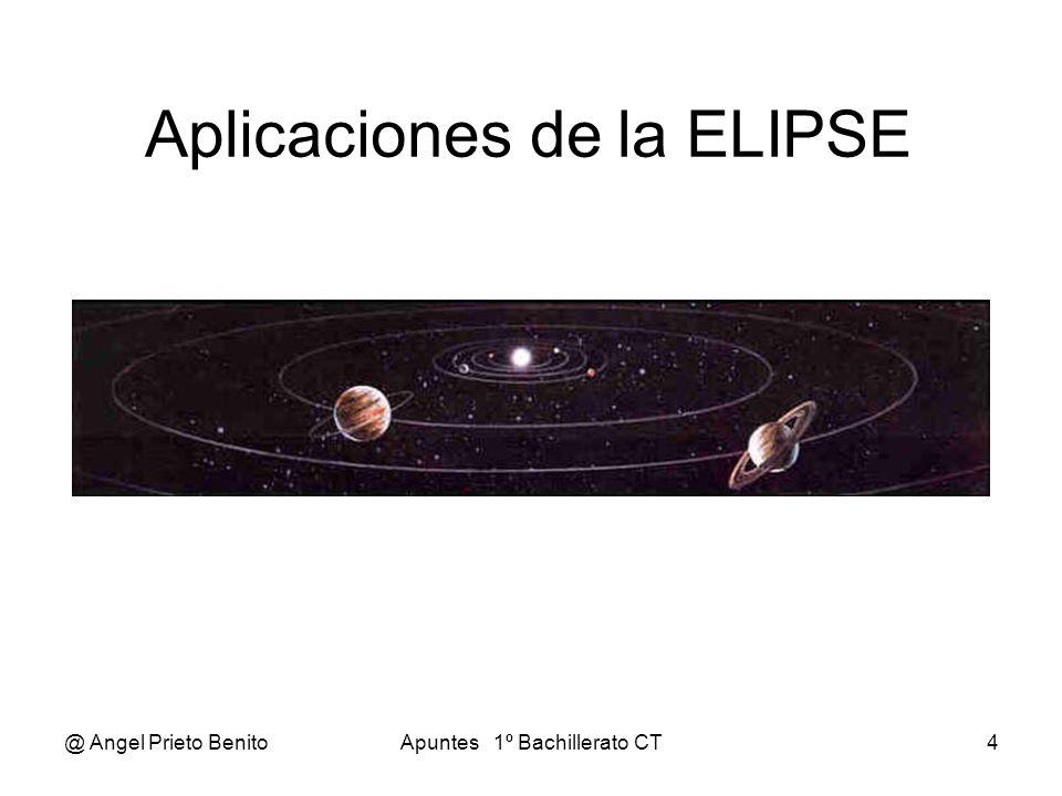 @ Angel Prieto BenitoApuntes 1º Bachillerato CT4 Aplicaciones de la ELIPSE