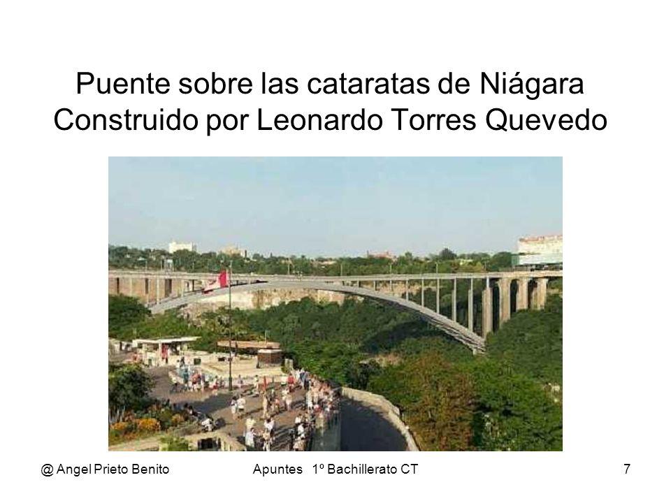 @ Angel Prieto BenitoApuntes 1º Bachillerato CT7 Puente sobre las cataratas de Niágara Construido por Leonardo Torres Quevedo